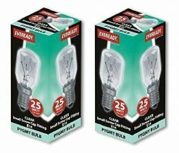 2 x 25w Watt SES E14 Appliance Fridge Microwave Oven Pygmy Screw in Light Bulbs